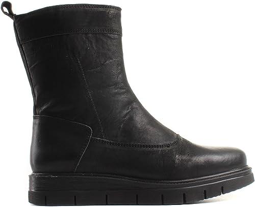 TEN POINTS - botas de Piel para mujer negro negro
