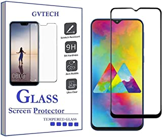 GVTECH Screen Protector for Samsung M20, Full Coverage Tempered Glass Screen Protector [2.5D Round Edge][9H Hardness][Crys...