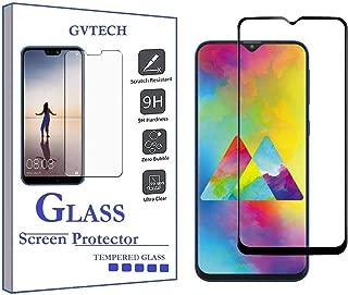 واقي شاشة GVTECH لهاتف Samsung M20، غطاء كامل من الزجاج المقوى [2.5D حافة دائرية][صلابة 9H][كريستال شفاف][مقاوم للخدش] لهاتف Samsung Galaxy M20(أسود)