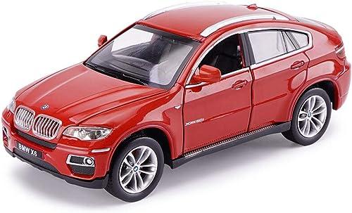 JIANPING Auto Modellauto 1 24 X6 Gel ewagen Simulation Legierung Druckguss Spielzeug Ornamente Sportwagen Sammlung Schmuck 19x7,5x7 CM Modellauto (Farbe   rot)