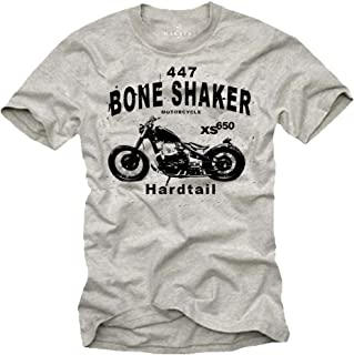 style3 Motociclista Vitruviano T-Shirt da Uomo Biker centauro Motociclo