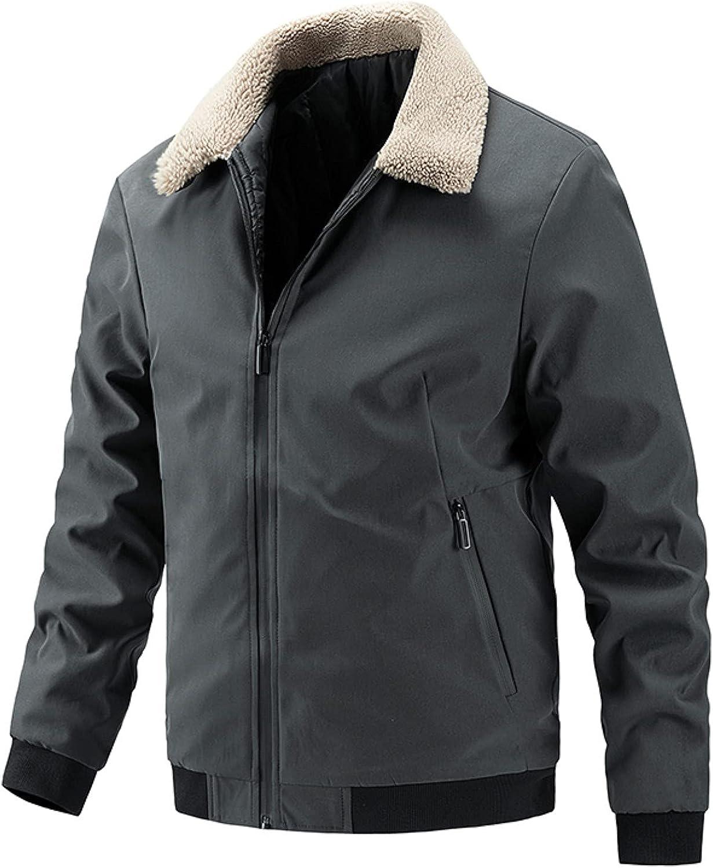 Men's Winter Cotton Super-cheap Fleece Lined Jacket Up Shell Coat Soft J Zip Recommended