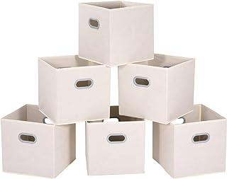 MaidMAX Cubes de Rangement en Tissu, Lot de 6 Boîtes/Tiroirs en Tissu Cube de Rangement Pliable Organiseurs Conteneurs pou...