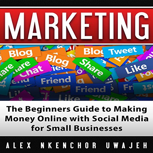 Marketing: The Beginners Guide to Making Money Online with Social Media for Small Businesses audiobook cover art