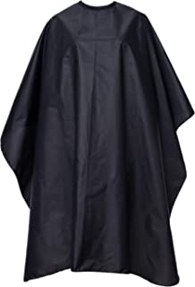 VETUZA Professional Barber Cape, Salon Cape with Snap Closure for Hair Cutting, Black 59
