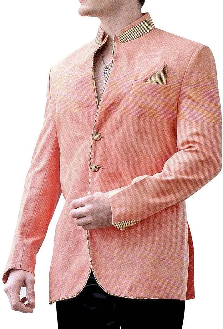 INMONARCH Mens Pink Indo Western Sherwani for Groom IN8110