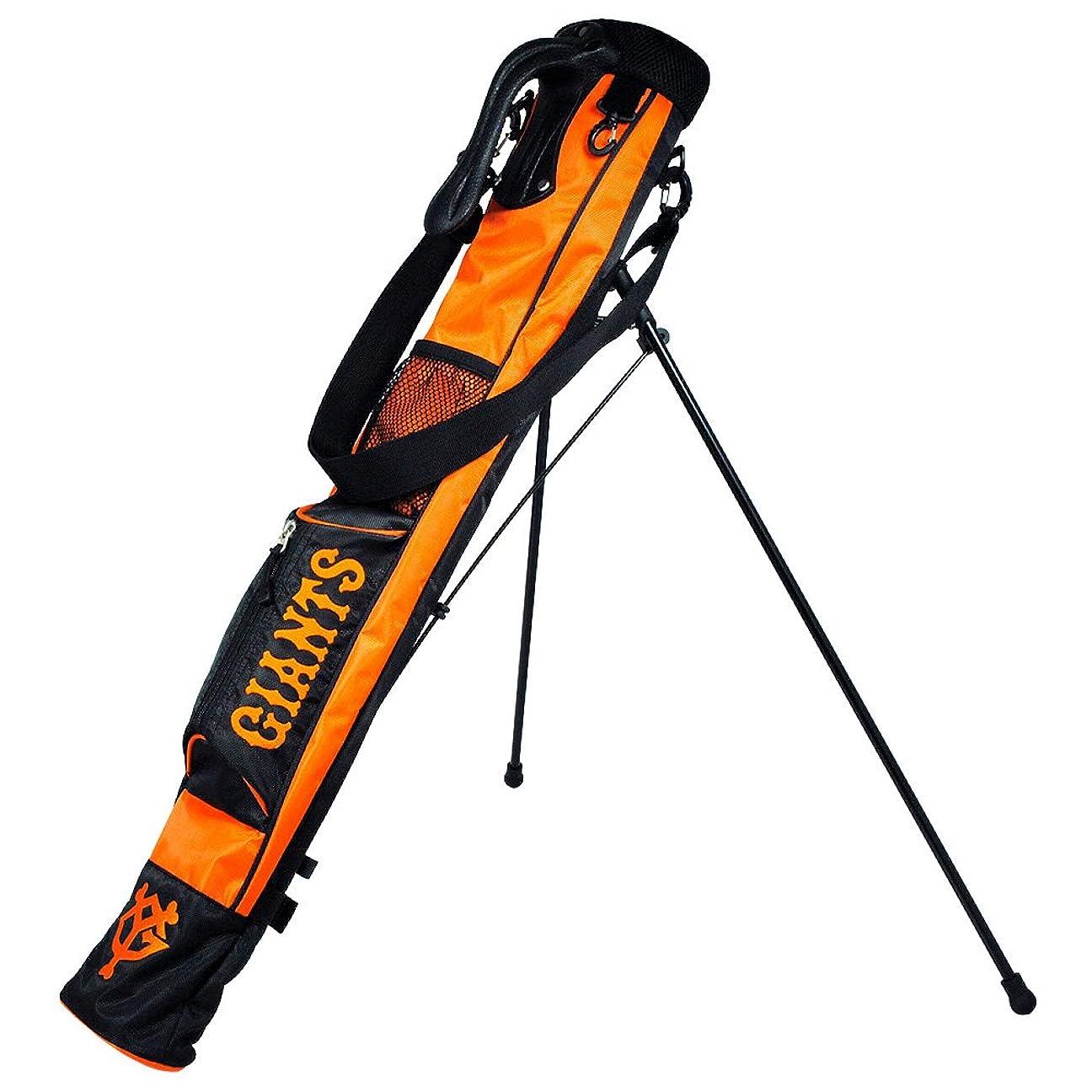 夜明けに会員スピーチLEZAX(レザックス) クラブケース 読売ジャイアンツ ラウンドスタンドバッグ  YGCC-7504 オレンジ×ブラック