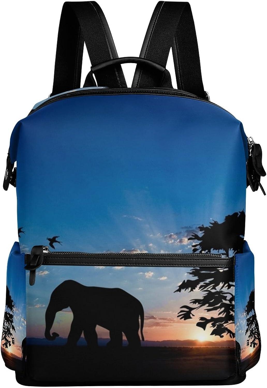 edf298de0452 Elephant Animal School Rucksack Travel Backpack LORVIES ncftqj3037 ...