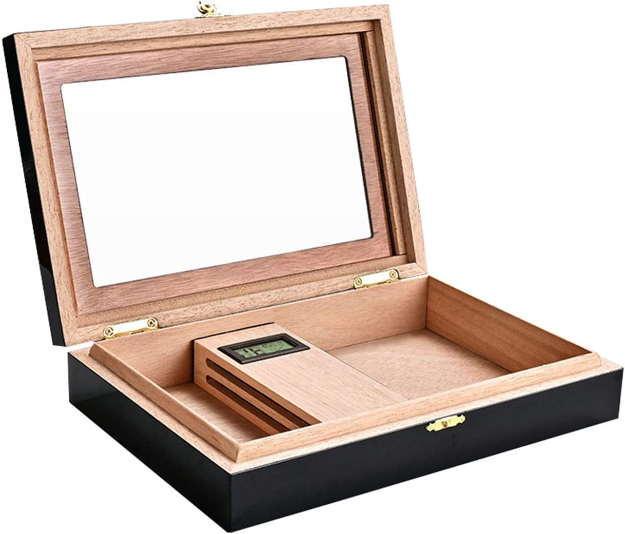 Cigar Humidor Wood Box with Hygrometer Desktop 5 ☆ Free shipping / New very popular and