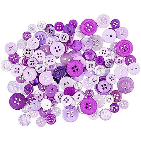 30g Verzieren Knopf Mix Farbtöne und Formen versch Basteln GELB zum Nähen