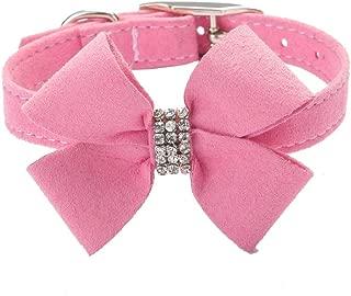 BINGPET BA2042 Bow Tie Crystal Boy Girl Dog or Cat Collar Designer Fancy Bling Rhinestone Collars