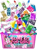 Slime Kit for Girls - All-Inclusive UNICORN Slime Making Kit - PLUS Slime Supplies Kit [57 Pieces Set] - DIY Slime Kit Makes Unicorn Slime, Cloud, Fluffy, Clear, Floam - Clear Glue Slime Activator