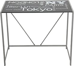 Vogue Glass Computer Desk, Black - H 90 cm x W 75 cm x D 50 cm