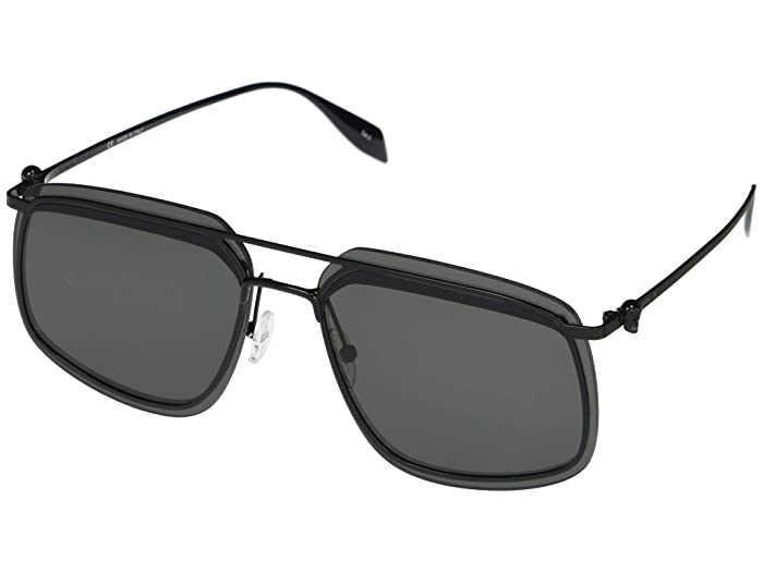 Alexander McQueen  AM0221SK (Black) Fashion Sunglasses
