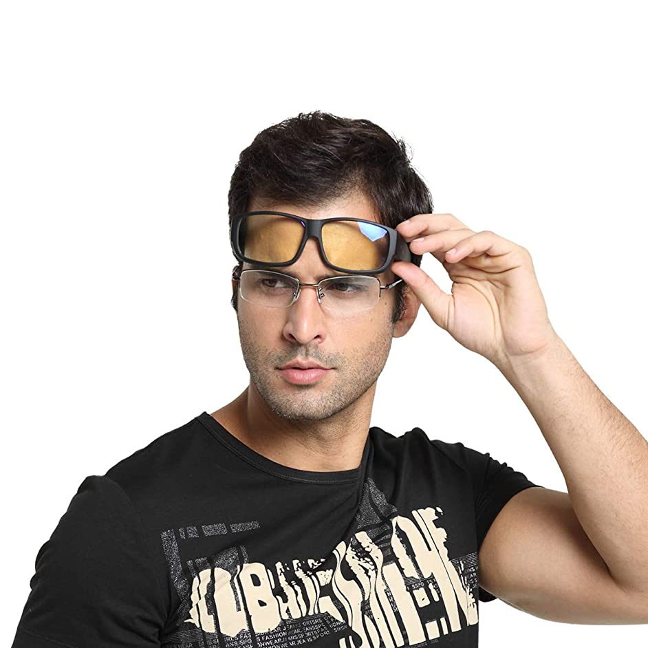 Duco Full Rim Optiks Ergonomic Advanced Computer Gaming Wear Over Prescription Glasses Anti Blue Light Wraparound Eyewear 8956L