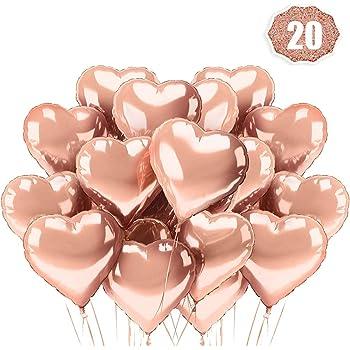 Lakind Ballon Coeur Rose 20 Pack Ballon Dhelium Or Ballons D Helium Pour Anniversaire Mariage Saint Valentin Douche De Bebe Decoration De Fete De Noel 20 Pack Or Rose Amazon Fr Jeux Et Jouets