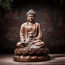 PPCP The Pioneer of Pure Copper Buddhist Statue Wisdom and Wealth is Used As Feng Shui, Home Decoration Display, 17×14.5×2...
