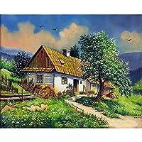 大人のためのマンバーによるDIY絵画アートクラフト手描きの油絵ビッグツリーペイントアートワーク壁アート装飾40X50cm /フレームなし