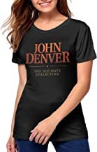 Woman John Denver The Ultimate Collection Music Band Lightweight Tennis Round Neck Cotton Tee Shirt M