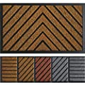 Extra Durable Door Mat Outdoors - Brown Door Mat - Entry Rug - Outdoor Door Mat - Non-Slip Waterproof Thin Doormat Outdoor Doormat Indoor (30 x 18) - Inside Doormat and Back Door Mat - Rubber Door Mat