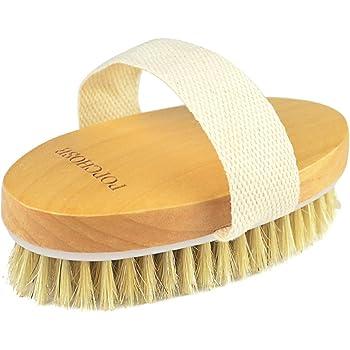 Amazon Com Dry Brushing Body Brush Popchose Natural Bristle Dry Skin Exfoliating Brush Body Scrub For Flawless