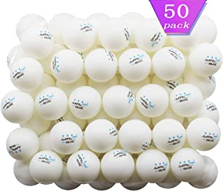 MAPOL 50 White 3-Star Table Tennis Balls Premium Training Ping Pong Balls