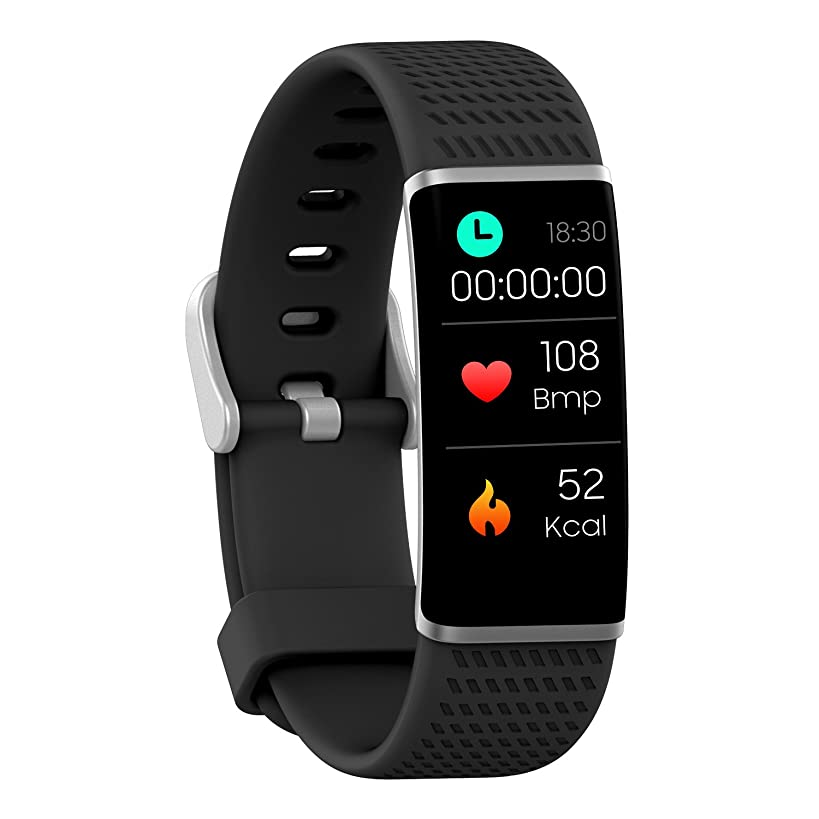 jianghuren Fitness Tracker Heart Rate Monitor Sports Monitor Color Screen Waterproof, Activity Tracker with Camera Support Bluetooth for Android iOS for Men Women