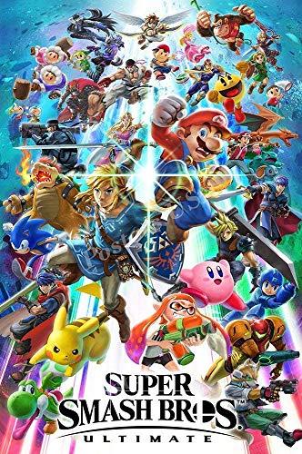 by burning desire Póster de Super Smash Bros Ultimate Switch con Acabado Brillante