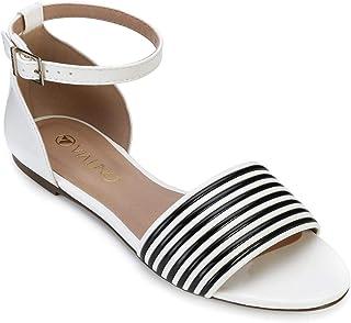 343e6f158 Moda - Branco - Rasteirinhas / Calçados na Amazon.com.br