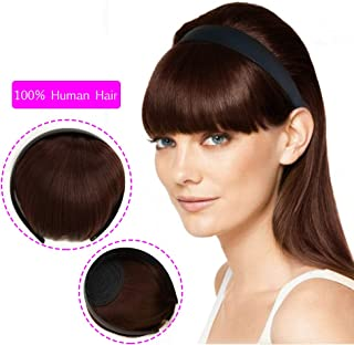 Beauty Angelbella Fashion Headband Neat Bangs in Forehead Synthetic Hair Extensions for Girls(2-33#)