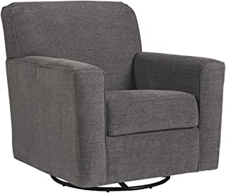 Signature Design by Ashley - Alcona Swivel Glider Accent Chair, Charcoal