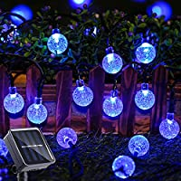 Toodour 29.5ft. Solar String Patio Lights 50-LED with 8-Modes