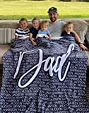 Personalized Name Blanket for Your Family, Custom Throw Blanket with Name, Best Gift for Daughter, Mom, Dad, Grandma. Great Gift for Birthday, Christmas, Graduation, Mother Day, Father Day