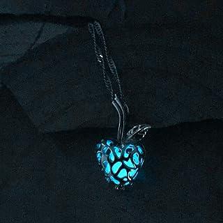 Collana di bagliore, Mela Luna stella luminosa in lega Jewelry Collana con ciondolo placcato halloween