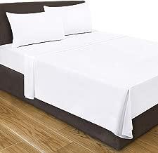 Utopia Bedding Queen Flat Sheet (White)