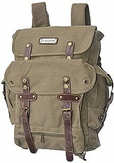 EuroSport WWII Khaki Canvas Backpack Bag b704