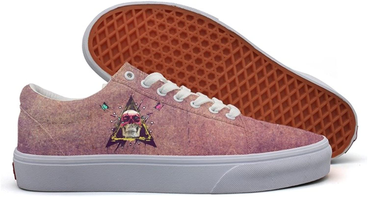 Skull paint butterfly triangle women fashion canvas shoes for women