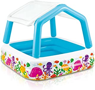 """Intex Sun Shade Inflatable Pool, 62"""" X 62"""" X 48"""", for Ages 2+"""