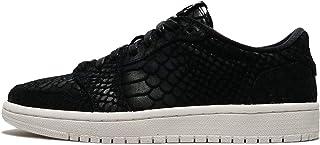 Nike Womens Jordan Air 1 Retro Low Top Lace Up Fashion Sneakers, Black, Size 8.0