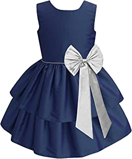 White Button Baby Girl's A-Line Knee Length Frock