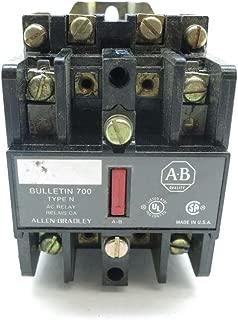 1- ALLEN BRADLEY 700-N200A1 TYPE N CONTROL SER C 120V-AC RELAY