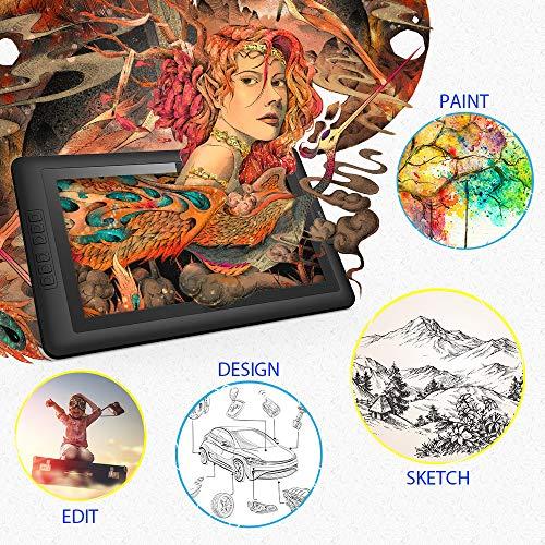 XP-PEN Artist15.6 IPS Gráficos Monitor de Dibujo Tableta con Guante y Lápiz Digital sin Pila (8192 Niveles de Presión)