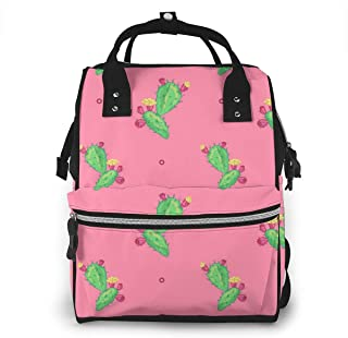 Cactus Flower Multi-Function Travel Backpack Nappy Bag,Fashion Mummy Bag