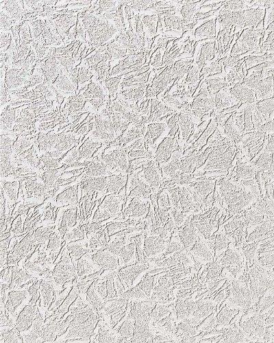 Uni Tapete EDEM 238-50 Dekorative Struktur Schaum-Tapete metallic effect weiß dezente silber glitter | 7,95 qm - 15 meter