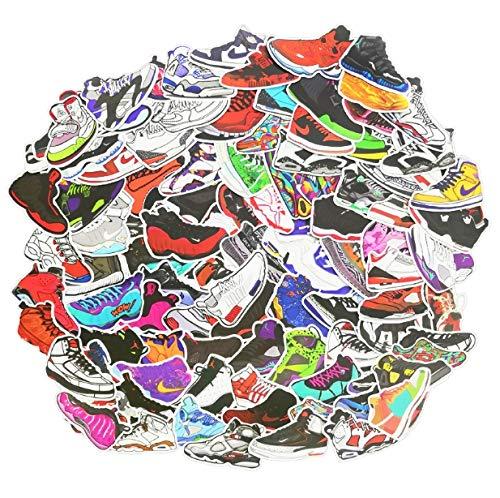 Paquete de Pegatinas 100 Piezas Zapatillas de Baloncesto Marca de la Marea Personalidad Graffiti Skateboard Guitar Trolley Funda Decorativa Pegatinas Impermeables