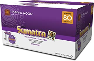 Copper Moon Coffee Single Serve Pods for Keurig 2.0 K-Cup Brewers, Sumatra Blend, Dark Roast Coffee with Smoothly Bold Earthy Flavors and Herbal Notes, 80 Count