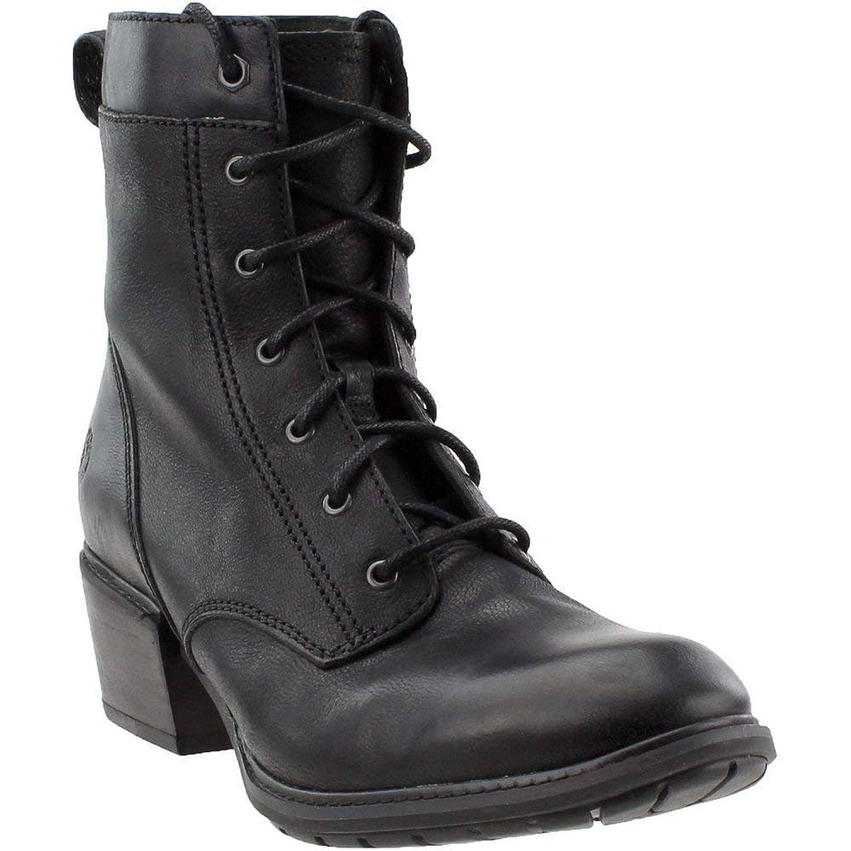 [ティンバーランド] レディース 女性用 シューズ 靴 ブーツ レースアップブーツ Sutherlin Bay Mid Lace Boot - Black Full Grain [並行輸入品]