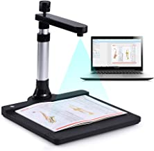 Aibecy Adjustable HD High Speed USB Book Image Document Camera Scanner Dual Lens (10 Mega-Pixel & 2 Mega-Pixel) Max. A3 Scanning Size with OCR Function LED Light for Classroom Office Library Bank