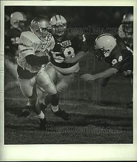 1992 Press Photo Amsterdam vs. Catholic Central high school football, New York