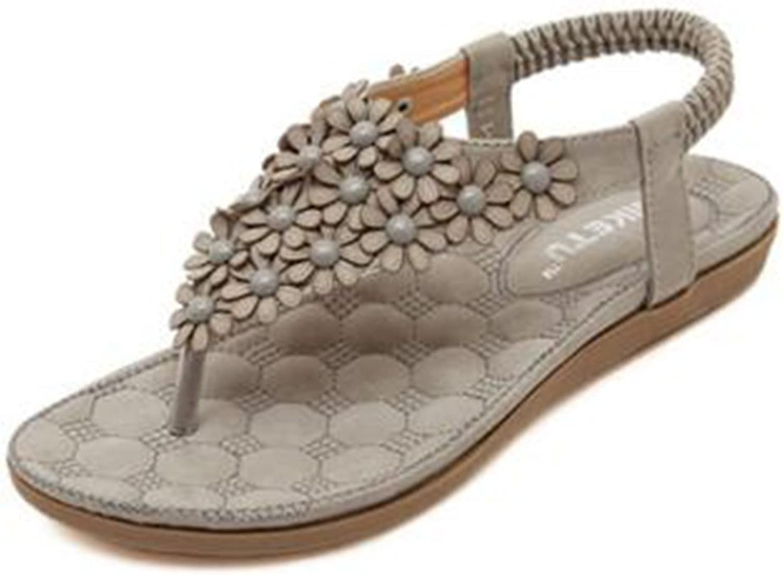 Colnsky Women's Bohemian Flower Beach Flat shoes Thong Sandals
